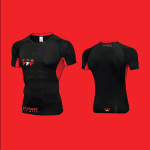 Men's base layer red and black tee